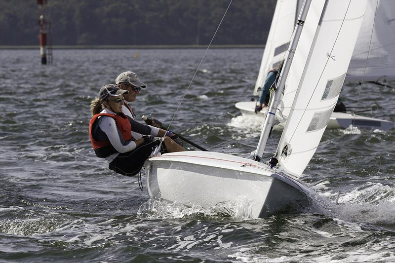 Consistency winners, Albany's Simon and Aileen Lucas - 2018 Flying Fifteen State Championships photo copyright Bernie Kaaks taken at South of Perth Yacht Club and featuring the Flying Fifteen class