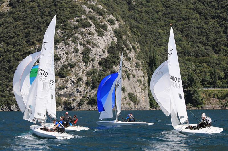 2018 Flying Fifteen European Championship at Fraglia Vela Riva photo copyright Elena Giolai taken at Fraglia Vela Riva and featuring the Flying Fifteen class