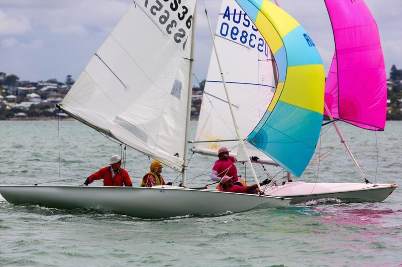 Super Snab v The Flying Flamingos - Flying Fifteen Australian Championship 2020 - photo © Royal Queensland Yacht Squadron