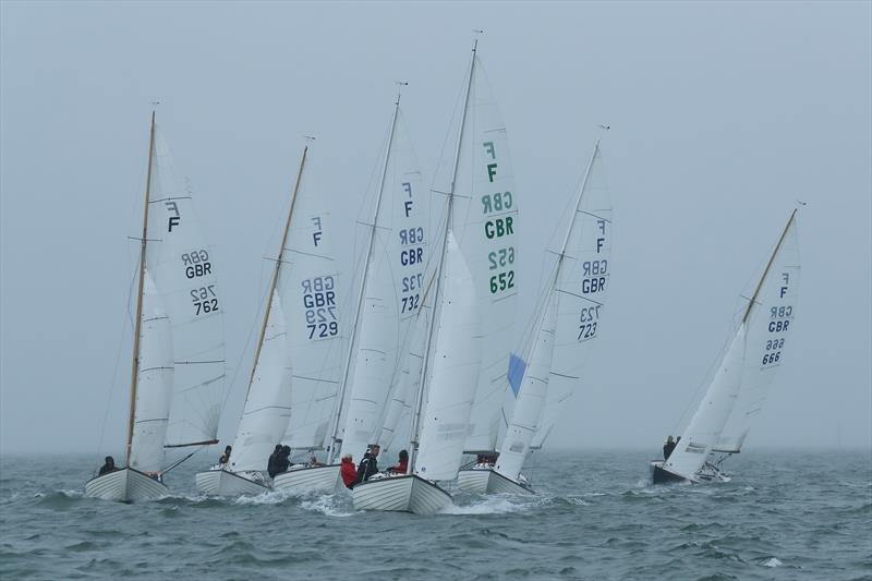 Folkboat start during LTSC Solent Circuit Race 5 - photo © J Caldwell