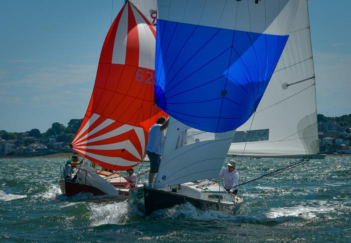 Duelling in the Folkboat class on day 1 at Cowes Classic Week - photo © Tim Jeffreys Photography