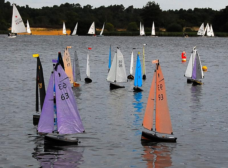 MYA Footy National Championship at Frensham Pond - Oliver Stollery 63 makes the best start in Race 1 - photo © Roger Stollery