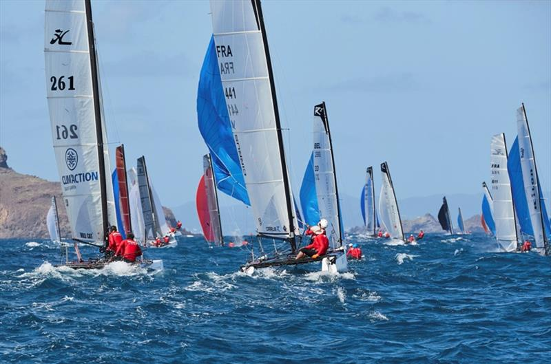Getting ready for the 12th St. Barth Cata Cup