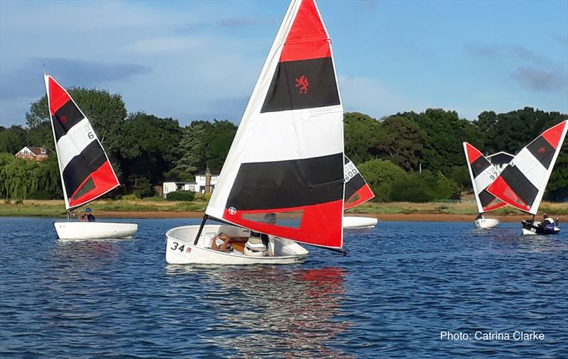 Foxers back out on the Hamble River photo copyright Catrina Clarke taken at Hamble River Sailing Club and featuring the Foxer class