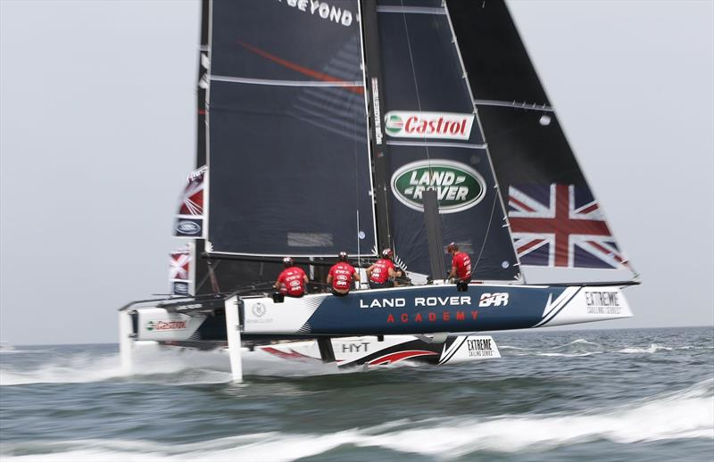 Land Rover BAR Academy manage to secure third place at Extreme Sailing Series™ Act 1, Muscat - photo © Lloyd Images