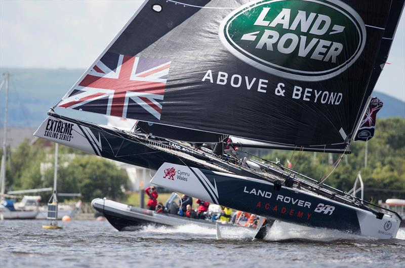 Land Rover BAR Academy on day 3 of Extreme Sailing Series™ Act 3 in Cardiff Bay - photo © Lloyd Images