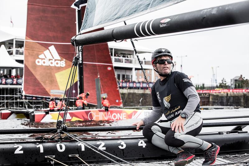 Morgan Larson on the final day at Extreme Sailing Series™ Act 3 in Cardiff Bay - photo © Lloyd Images