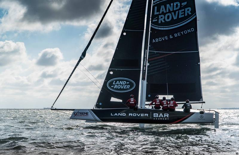 Land Rover BAR Academy winter training on the Solent - photo © Alex Palmer