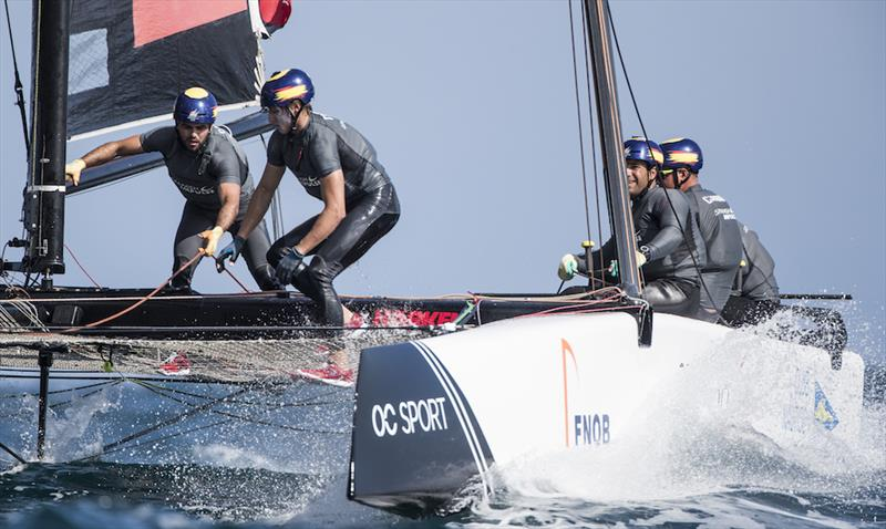 Spanish Impulse on day 1 of Extreme Sailing Series Act 3, Barcelona - photo © Lloyd Images