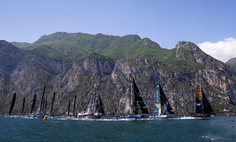 Full GC32 fleet racing at last year's World Championship on Lake Garda - a taste of things to come in 2019.  - photo © Pedro Martinez / GC32 World Championship