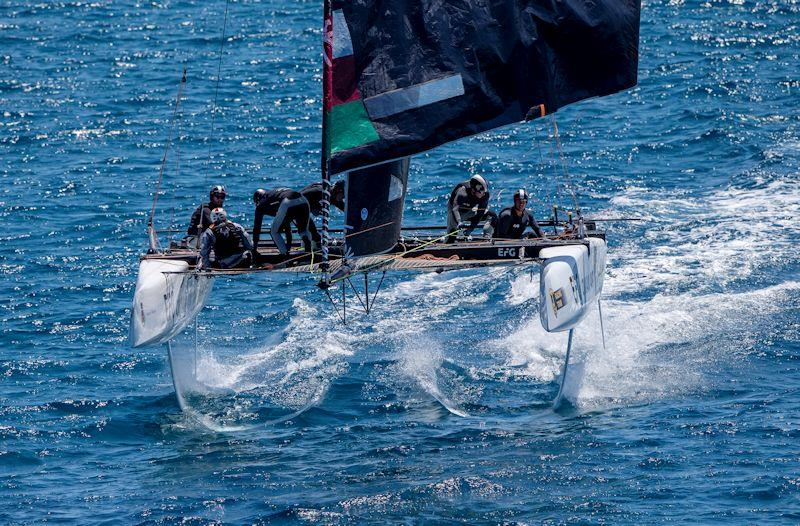 The Adam Minoprio-skippered Oman Air looked threatening on day 1 of the GC32 Villasimius Cup - photo © Sailing Energy / GC32 Racing Tour