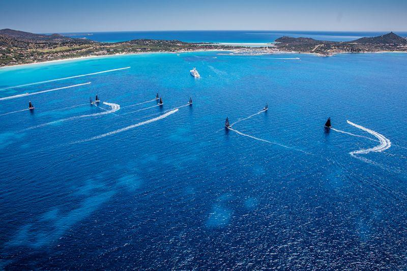 The magnificent bay west of Capo Carbonara forms the race course for the GC32 Villasimius Cup - photo © Sailing Energy / GC32 Racing Tour