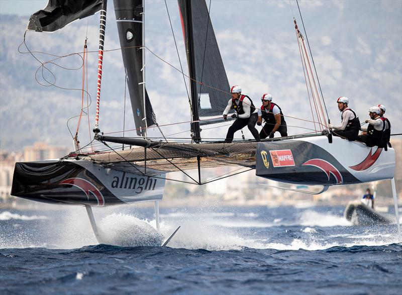 GC32 World Champions Alinghi are tied for the lead after day one of racing at Copa del Rey MAPFRE. - photo © Sailing Energy / GC32 Racing Tour