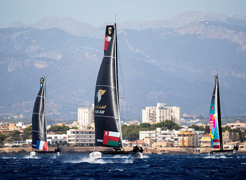 The breeze was up today on the Bay of Palma. - 38 Copa del Rey MAPFRE - photo © Sailing Energy / GC32 Racing Tour