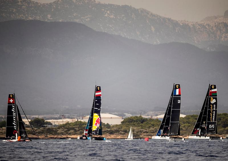 Leeward gate rounding today. - 38 Copa del Rey MAPFRE - photo © Sailing Energy / GC32 Racing Tour