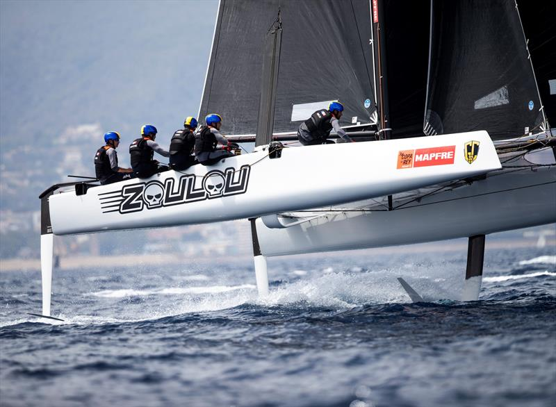 Erik Maris' Zoulou scored their first bullet in today's final race. - 38 Copa del Rey MAPFRE - photo © Sailing Energy / GC32 Racing Tour