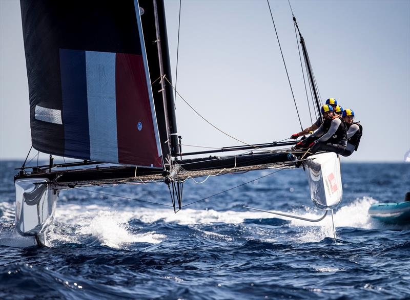 Erik Maris' Zoulou started the day strongly. - photo © Tomas Moya / Sailing Energy / GC32 Racing Tour