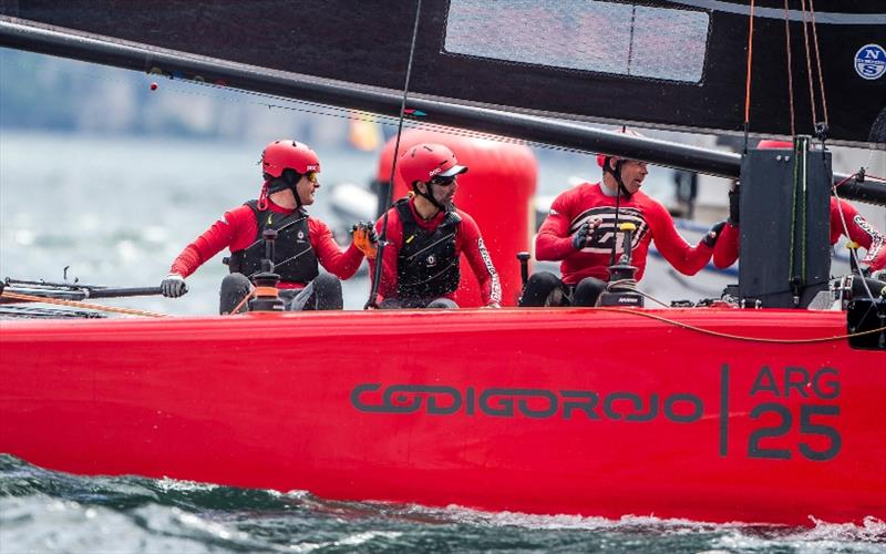 Federico Ferioli at the helm of the Argentinean Código Rojo Racing GC32. - photo © Jesus Renedo / GC32 Racing Tour