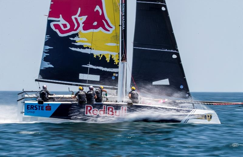 Austrian Olympic legend Roman Hagara's Red Bull Sailing Team currently lies third overall in the 2019 GC32 Racing Tour. - photo © Jesus Renedo / Sailing Energy / GC32 Racing Tour