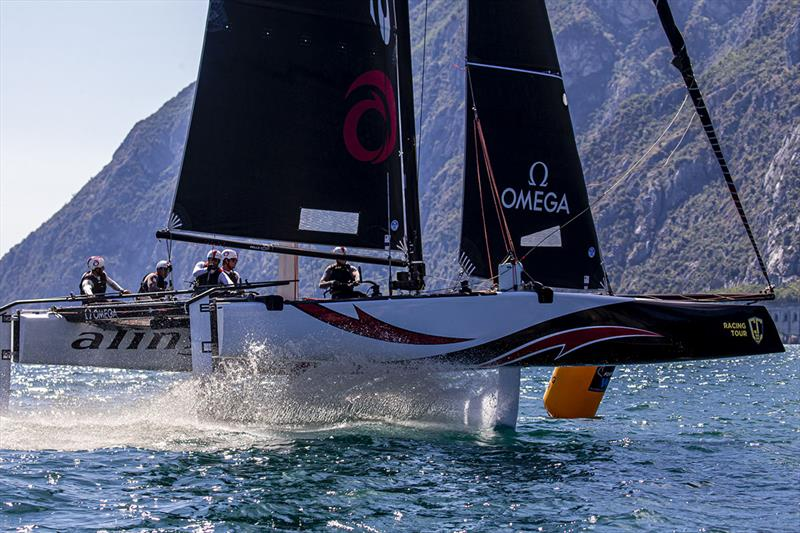 GC32 World Champions Alinghi lead after day one of the GC32 Riva Cup. - photo © Jesus Renedo / Sailing Energy / GC32 Racing Tour