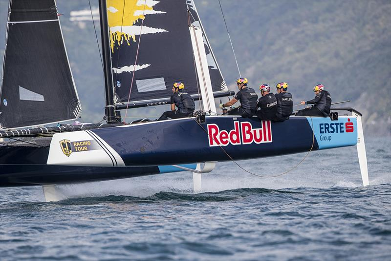 Red Bull Sailing Team fought back to third overall today - 2019 GC32 Riva Cup - photo © Sailing Energy / GC32 Racing Tour