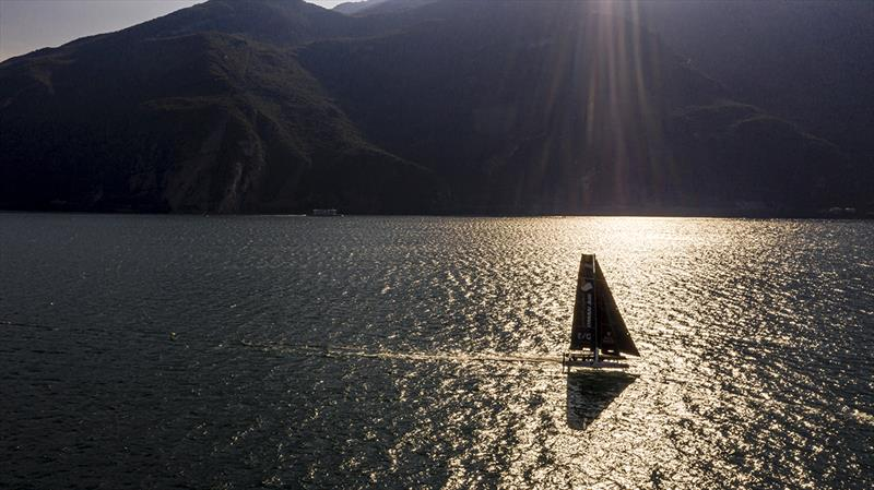 Fantastic early morning sailing today in Lake Garda's Peler northerly - 2019 GC32 Riva Cup - photo © Sailing Energy / GC32 Racing Tour