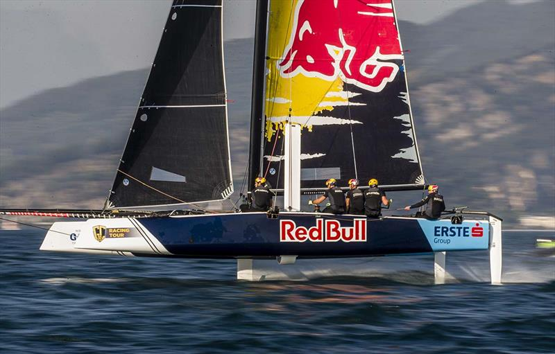 Red Bull Sailing Team will be looking to defend their third spot on the podium in Oman. - photo © Sailing Energy / GC32 Racing Tour