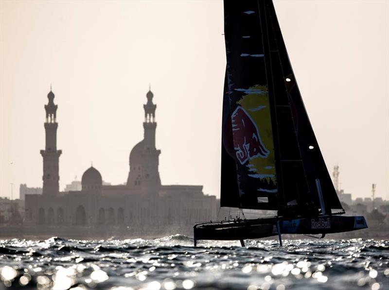 Red Bull Sailing Team won today's second race - 2019 GC32 Oman Cup day 2 photo copyright Sailing Energy / GC32 Racing Tour taken at  and featuring the GC32 class
