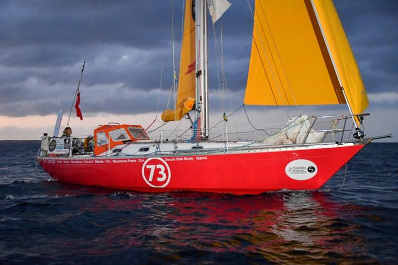 Susie Goodall sailing aboard her Rustler 36 DHL Starlight - photo © Christophe Favreau / PPL / GGR