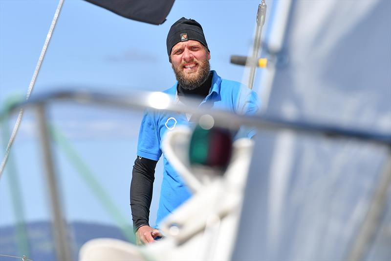 Mark Slats - a last chance perhaps to break Van Den Heede's hold on the Race - Golden Globe Race - Day 190 - photo © Christophe Favreau / PPL / GGR