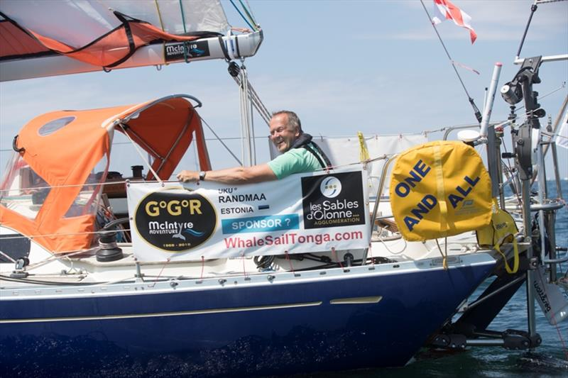 Uku Randmaa is all smiles again after finding the South East Trades - Golden Globe Race - photo © Tim Bishop / PPL / GGR