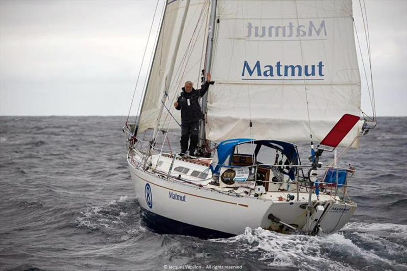 Onboard Jean-Luc Van Den Heede's French Rustler 36 yacht MATMUT during the 2018 Golden Globe solo non-stop round the world race. - photo © Jacques Vapillon
