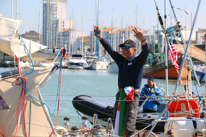 Istvan Kopar acknowledges the warm welcome on his return - 2019 Golden Globe Race - photo © Jane Zhou / GGR / PPL