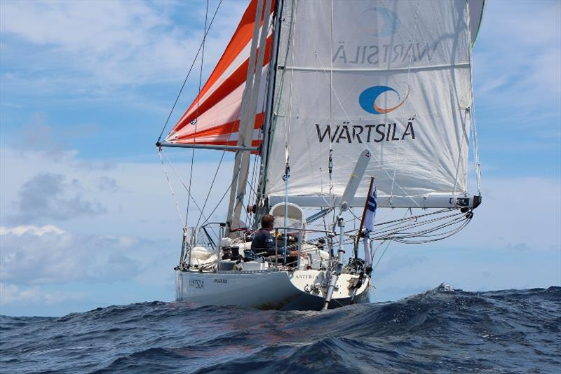 Asteria's Windpilot windvane self steering has stood up well during this endurance adventure - Golden Globe Race photo copyright Peter Foerthmann / Windpilot and Les Gallagher / Fishpics / PPL taken at  and featuring the Golden Globe Race class