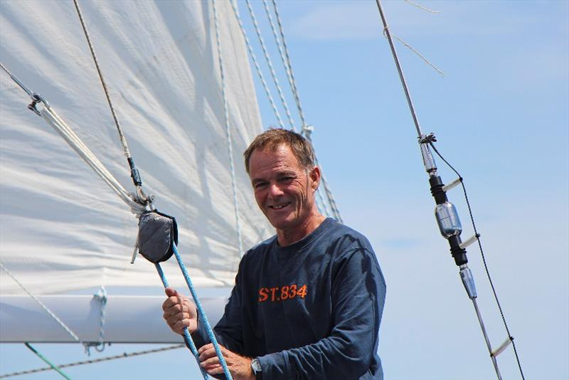 Bright and cheerful Tapio is enjoying his extended solo circumnavigation - Golden Globe Race photo copyright Peter Foerthmann / Windpilot and Les Gallagher / Fishpics / PPL taken at  and featuring the Golden Globe Race class