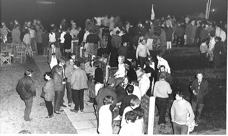 The West Lancs 24 Hour Race pits at night in 1969 - photo © WLYC