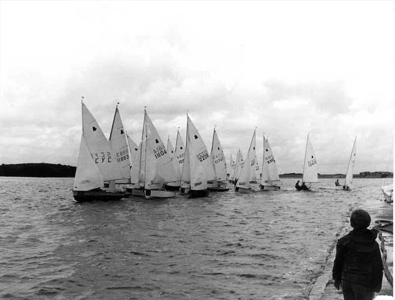 Alternate start GP14, many general recalls later, at the West Lancs 24 hour race - photo © WLYC