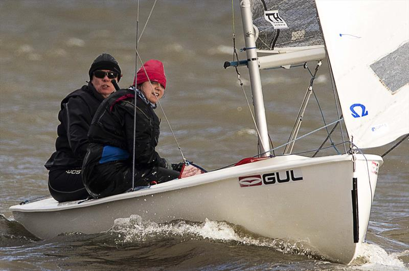 Leigh & Lowton Tipsy Icicle Series Week 6 photo copyright Gerard van den Hoek taken at Leigh & Lowton Sailing Club and featuring the GP14 class