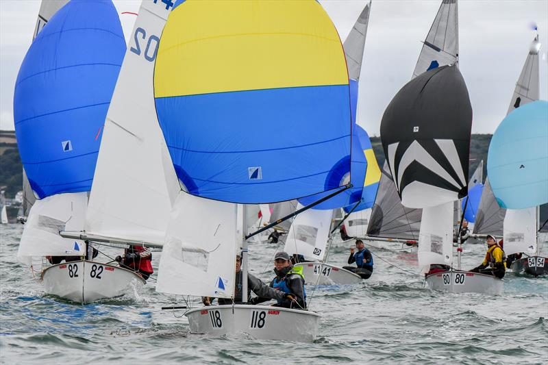 Silver fleet leaders on day 2 of the Gul GP14 Worlds at Mount's Bay - photo © Lee Whitehead / www.photolounge.co.uk