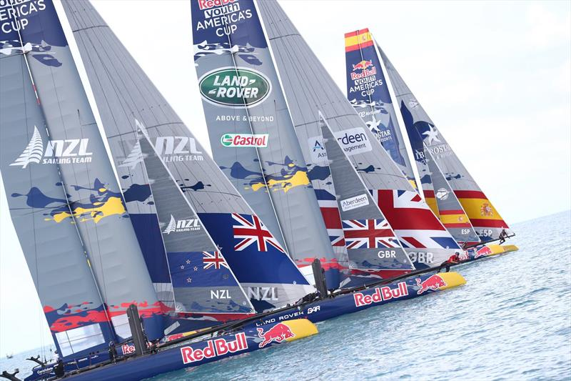 America's Cup AC45s with branding by Grapefruit Graphics - photo © Grapefruit