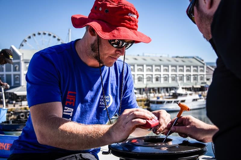 The Harken team servicing the Volvo Ocean Race yachts in Cape Town - photo © Hannah Cotterell Media