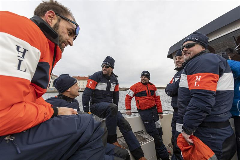 Ben Ainslie and Hans Eckerström chatting with the teams during the Henri-Lloyd Frostbite Challenge in Marstrand, Sweden - photo © Dan Ljungsvik