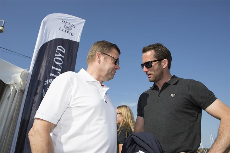Paul Strzelecki and Ben Ainslie in Cowes during the Round the Island Race in 2014 - photo © Henri Lloyd