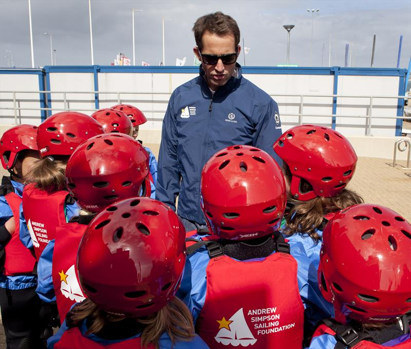 Ben Ainslie talking to children at the Andrew Simpson Sailing Centre - photo © Henri Lloyd