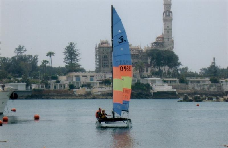 Hobie at Montaza photo copyright Liz Potter taken at  and featuring the Hobie 16 class