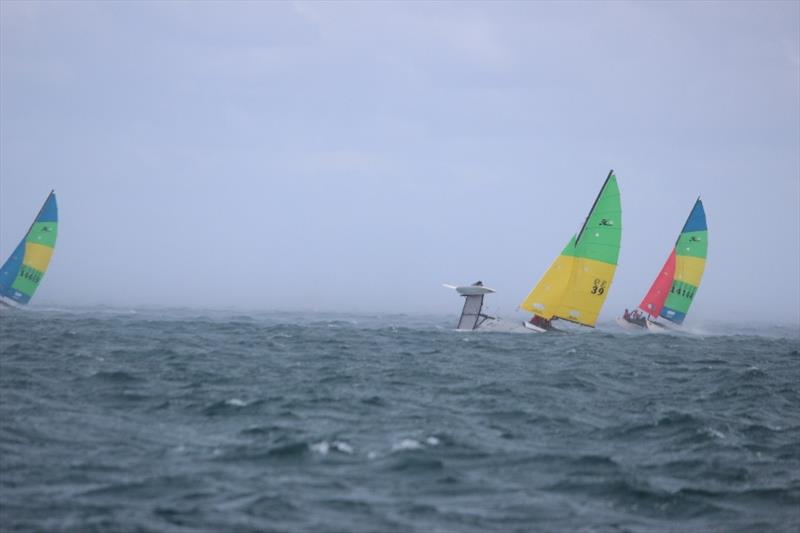 Squall hits the Hobie 16 fleet - 2019-20 Australian Hobie Cat Nationals, day 3 - photo © Kathy Miles