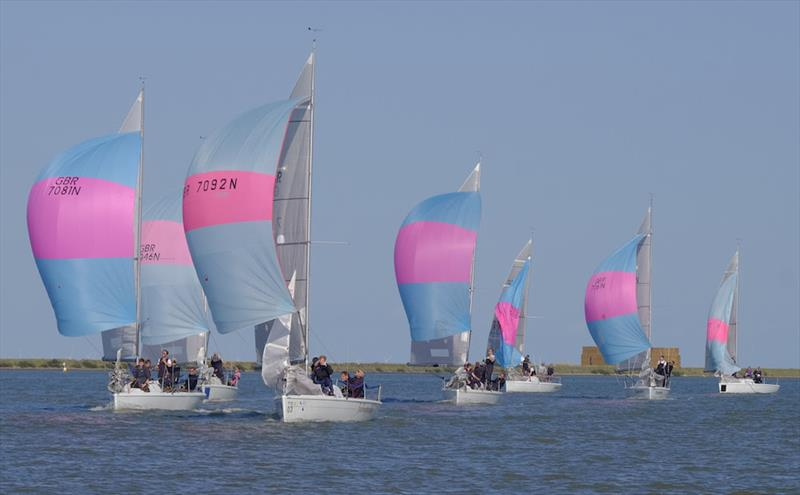 The highly contested 707 National Championship at Burnham Week - photo © Roger Mant