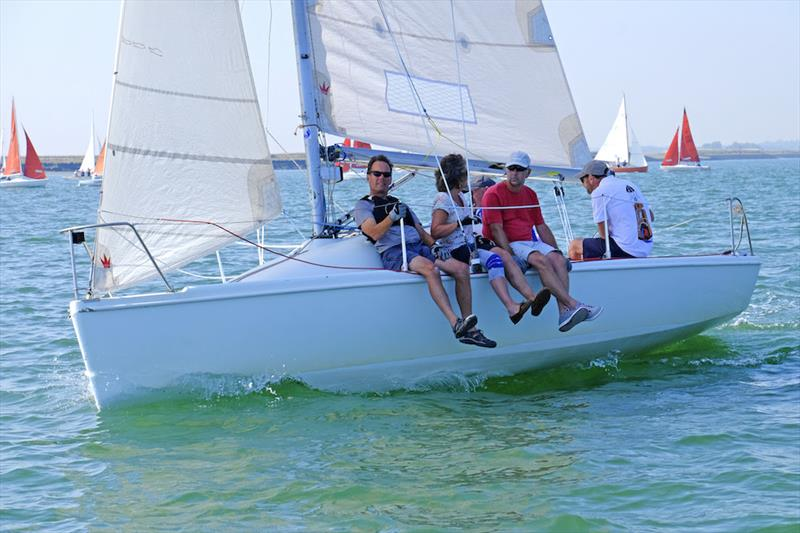 707 class racing in perfect Burnham Week conditions photo copyright Roger Mant taken at Royal Corinthian Yacht Club, Burnham and featuring the 707 class