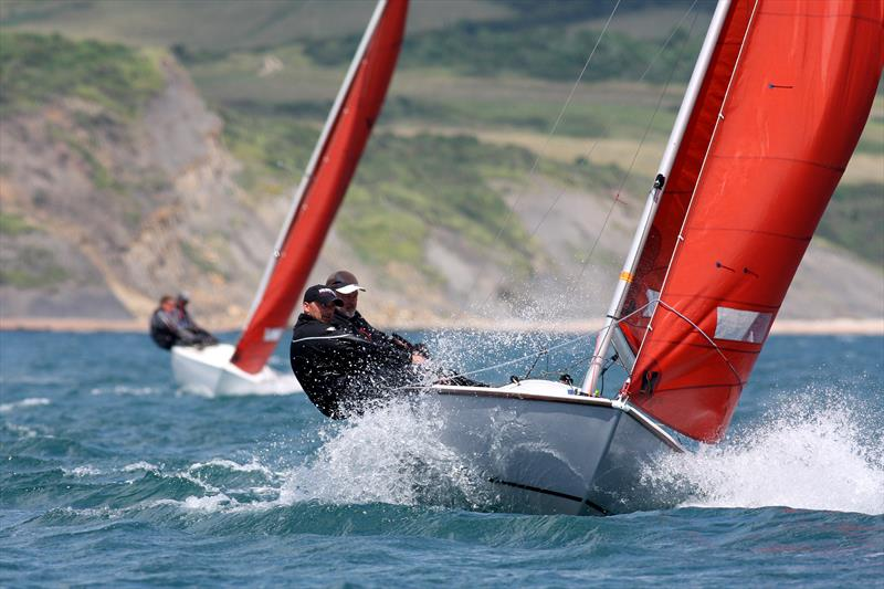 Nigel and Jack Grogan win the Squib nationals at Weymouth - photo © Mike Rice