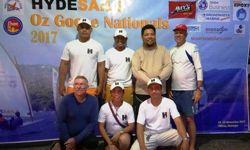 The representatives of Hyde Sails Cebu were Elorde Tampus (skipper), Lorelie Casilan (crew) Marlon Amistad (skipper) and Elmer Verdida (crew) at the Philippine Oz Goose Nationals 2017 - photo © Hyde Sails